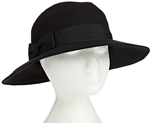 french-connection-womens-debbie-textured-trilby-hat-black-one-size