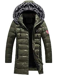 1e7aa9159 Amlaiworld Chaqueta de Invierno de Camuflaje para Hombre Overcoat Escudo Abrigos  Delgado con Cremallera Larga Botones