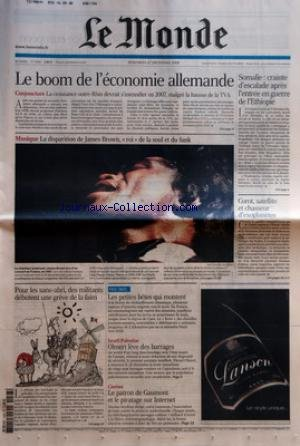 MONDE (LE) [No 19260] du 27/12/2006 - LE BOOM DE L...