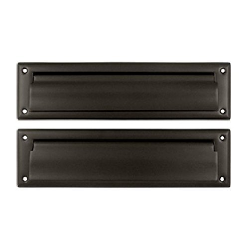 Deltana MS212U10B 13 1/8-Inch Mail Slot with Solid Brass Interior Flap by Deltana