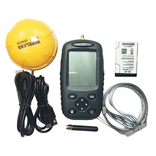 Portable Wireless Depth Finder Angeln Sonar Ultraschall-Fischfinder Drahtloser Visueller Fischfinder 100 M Erkennungsbereich Helfen GroßE Fische zu Fangen Portable Angeln Gps