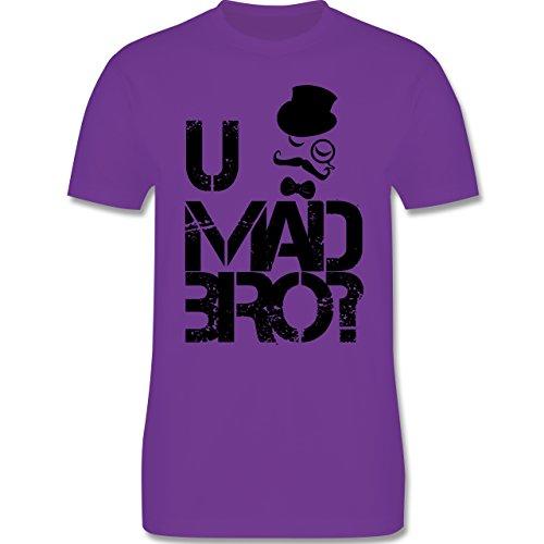 Hipster - U MAD BRO? - Herren Premium T-Shirt Lila