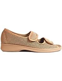 Boulevard - Zapatos casuales de ancho especial con cierre adhesivo para mujer (39 EU/Vino) vIk0oNa