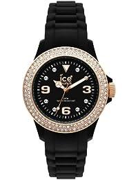 ICE-Watch - Montre femme - Quartz Analogique - Ice-Star - Black - Unisex - Cadran Noir - Bracelet Silicone Noir - ST.BK.U.S.09