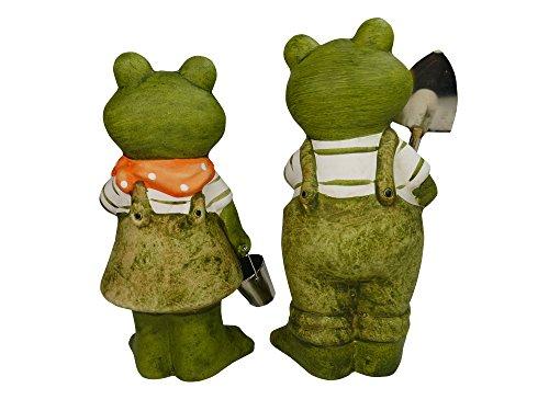 khevga Gartenfigur Gartendeko 2er Set Frosch - 3