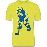Sport Kind - Eishockey - Atmungsaktives Laufshirt/Funktionsshirt für Mädchen und Jungen