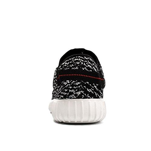 IceUnicorn , Chaussures de running pour homme Blanc/noir