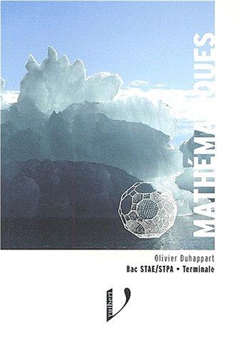 Mathmatiques Bac STAE/STPA Terminale