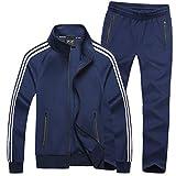 Mirecoo Herren Jogginganzug Trainingsanzug Fitness- Gr. 3XL, Schwarzblau 18
