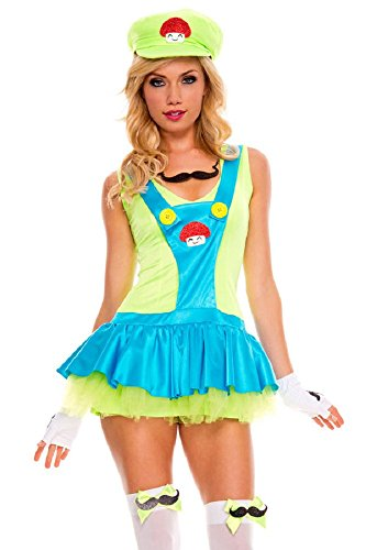 Fancy Me Damen Sexy Super Mario oder Luigi -