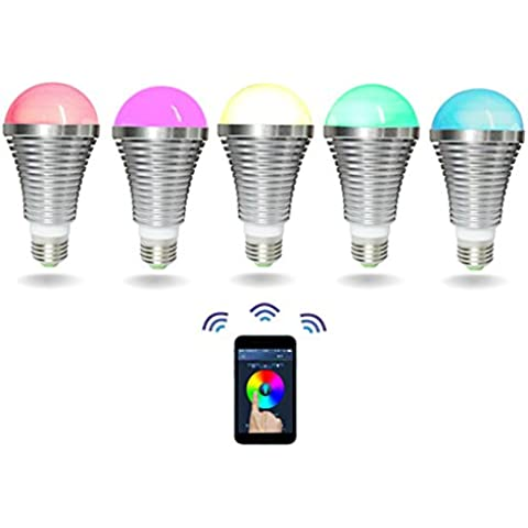 Intelligente lampadina LED Wireless Remote Control RGB che cambia la lampada con la lampadina di risparmio di musica Bluetooth Audio Speaker Energia supporto iOS, Android