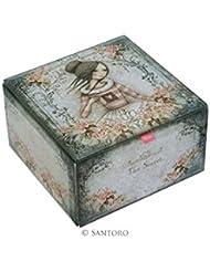 Santoro Mirabelle... 'el secreto' Character de caja de la baratija... Dimensiones: 10 x 10 cm x 6 cm