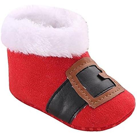 Zapatos de Navidad bebé Prewalker, RETUROM Nuevo estilo de la Navidad del niño del bebé los zapatos del pesebre botas de nieve suavemente único