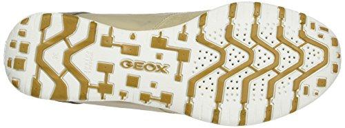 Geox D Freccia A, Scarpe da Ginnastica Basse Donna Beige (Lt Taupe/Beigech65A)