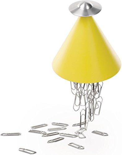 Alessi Spettro Magnetischer Büroklammer Halter Gelb