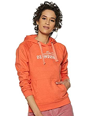 Amazon Brand - Symbol Women's Sweatshirt (AW18WNSSW44A_Dutch Orange Mel_Small)