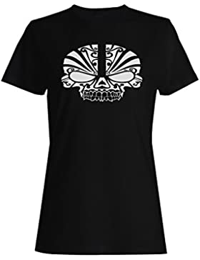 HELLOWEEN ESQUELÉTICO HEAD FUNNY NOVELTY NUEVO camiseta de las mujeres -k20f