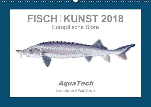 Fisch als Kunst 2018: Europäische Störe (Wandkalender 2018 DIN A2 quer): Mit 13 wissenschaftlichen Farbillustrationen (Monatskalender, 14 Seiten ) por Paul Vecsei