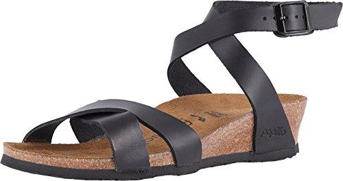 BIRKENSTOCK Papillio Womens by Lola Black Leather Sandals 38 EU - Lola Ankle Strap Sandalen