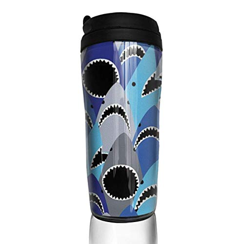 Travel Coffee Mug Shark Mouth 12 Oz Spill Proof Flip Lid Water Bottle Environmental Protection Material ABS