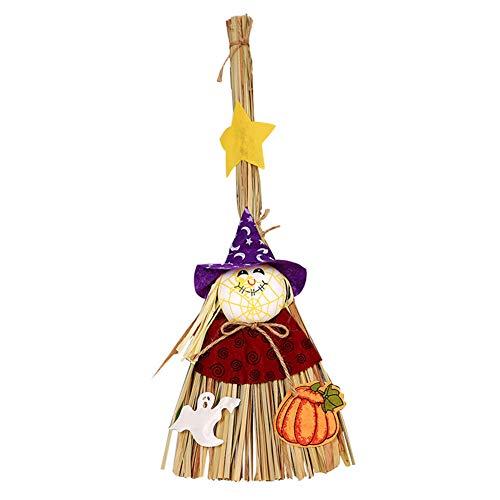 Halloween Requisiten Vogelscheuche Ornamente TöPfer Zauberstab Besen Niedliche Zarte Hexe Fliegen Besen Kinder Geschenk ()