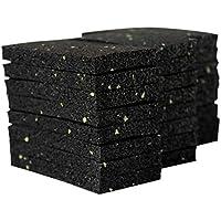 24 unidades de 10 mm de almohadilla para terraza, granulado de goma, construcción de terrazas