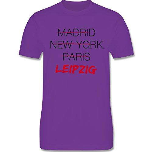 Städte - Weltstadt Leipzig - Herren Premium T-Shirt Lila
