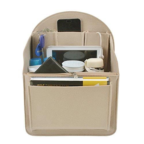 40af46d9768b YUENA CARE Insert Bag Felt Backpack Organiser Multi Pocket Fit for ...