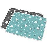 Alwayswin 2 Pack Tragbare Wickelauflage wasserdichte Bettauflage Spielmatte Säugling und Kind Atmungsaktive Windel Baby Pad Baumwolle Cartoon Wasserdicht Tante Pad 50 * 70