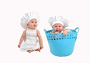 Baby Toddler White Chef Hat Adjustable Fits Babies 12-36 Mos by CHEFSKIN