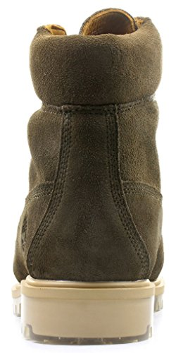 Tpu Vert Sued Timberland Olive Chaussures Dark 6inch Faible Tl1c3KJF