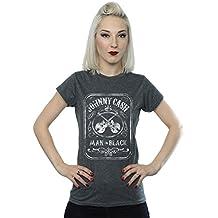 Johnny Cash Damen T-Shirt, Kein Muster
