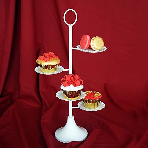 Utimate 4 Tier Cup Holder, Vintage White Cake Stand, Retro Metallspitze Dessert Cup Holder für Hochzeitsfeier
