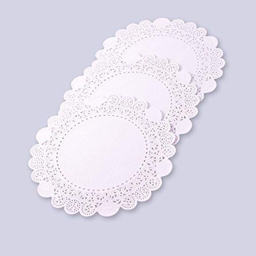 Juvale Lot de 100 napperons ronds en dentelle en papier 14 cm 6 couleurs