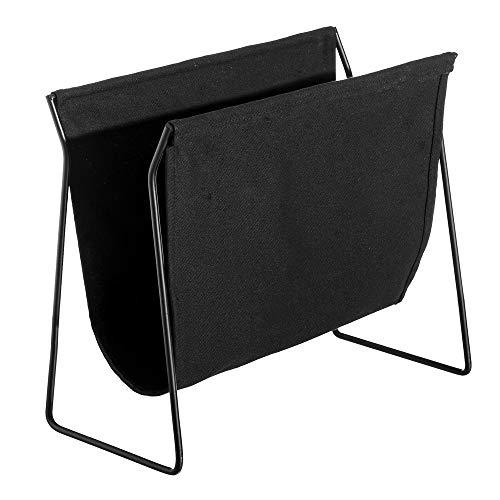 Revistero de Suelo de Metal Negro Minimalista para salón Factory - LOLAhome