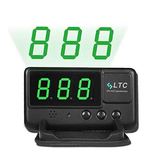 LTC ® Universal Auto HUD Head Up GPS Display OBD 2 Geschwindigkeitsmesser Tacho mit Alarmfunktion Geschwindigkeit Warnung C60