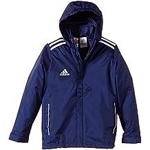 14ed4d92b adidas Regenjacke Core 11 - Chubasquero, color azul marino/blanco, talla 17  años