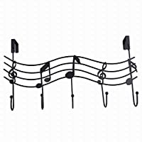 WE-WIN Music Note Style Metal Coat Hanger Organizer Hooks Hanger Holder Wall Door Decor