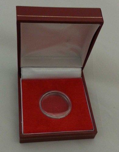 Di S.Giorgio incastonata Deluxe imbottito individuale in Capsule per monete, colore: rosso