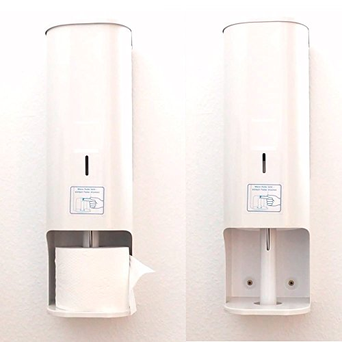 Toilettenpapier-Spender 4 Rollen, abschließbar WC-Papierspender, Metall weiß