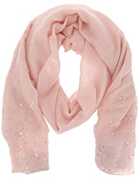 a11b6e30204 moonbow Foulard Rose poudré Perles et Strass - Foulard Femme - Echarpe