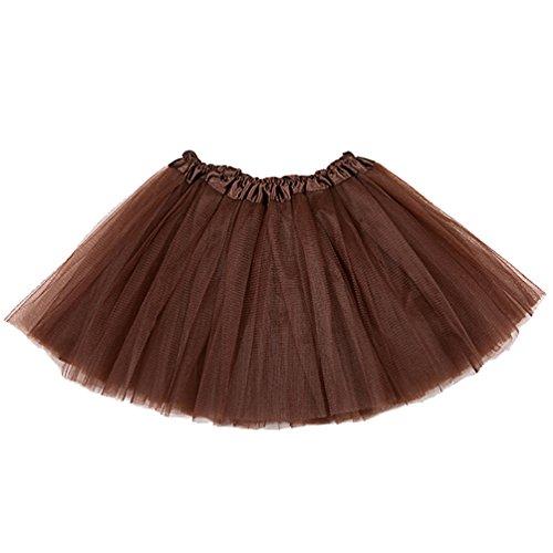 Tütü Damen Tüllrock Mädchen Ballet Tutu Rock Kinder Petticoat Unterrock Ballett Kostüm Tüll Röcke Festliche Tütüs Erwachsene Pettiskirt Ballerina Petticoat Für Dirndl Kaffee Erwachsene