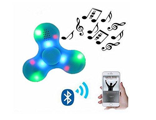 Preisvergleich Produktbild Pinkfee Fidget Spinner LED Licht Fidget Toys Bluetooth Lautsprecher Finger Spielzeug Mit einem Micro USB-Kabel