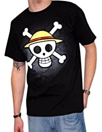 T-Shirt One Piece Logo sur Carte noir