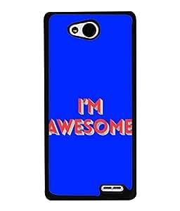 PrintVisa Designer Back Case Cover for LG L90 :: LG L90 Dual (I'm Awesome Words Sayings)