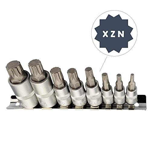 XZN Vielzahn Stecknuss Schlüssel Set I M4 M5 M6 M8 M10 M12 M14 M16 I 8 tlg. Innenvielzahn Bit Satz