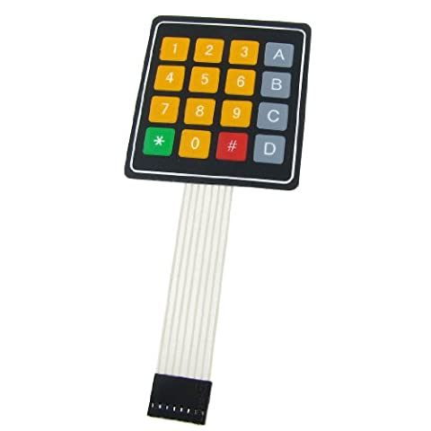 sourcingmap® 4x4 Key Matrix DIY Membranschalter Touchpad 76 x 69 x 0.8mm 12V Matrix Tastatur