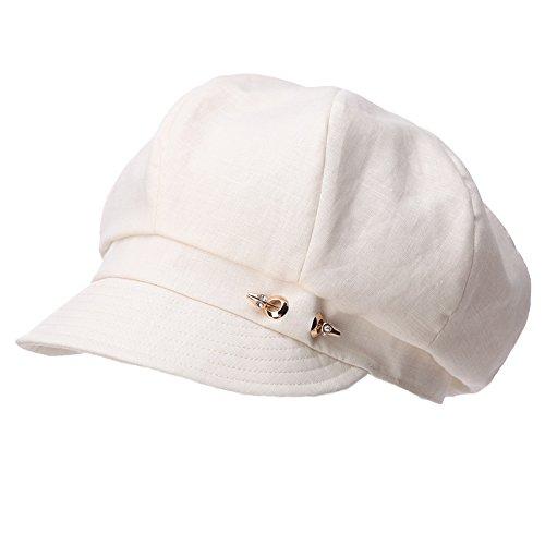 SIGGI Damen 8-Panel Schirmmütze Cabbie Maler Mütze 56-59CM Beige
