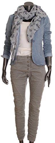 "Jeans pour femme coupe boyfriend aladin harem pantalon chino baggy taille basse boyfriendjeans boyfriendhose batik look ""destroyed"" Mittelgrau UNI"