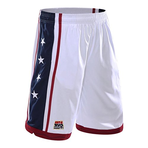 Men USA Basketball Shorts white